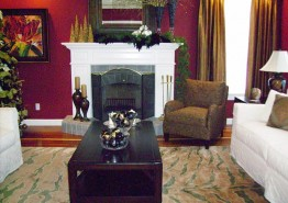 BEFORE AND AFTER LIVING ROOM AND FIREPLACE