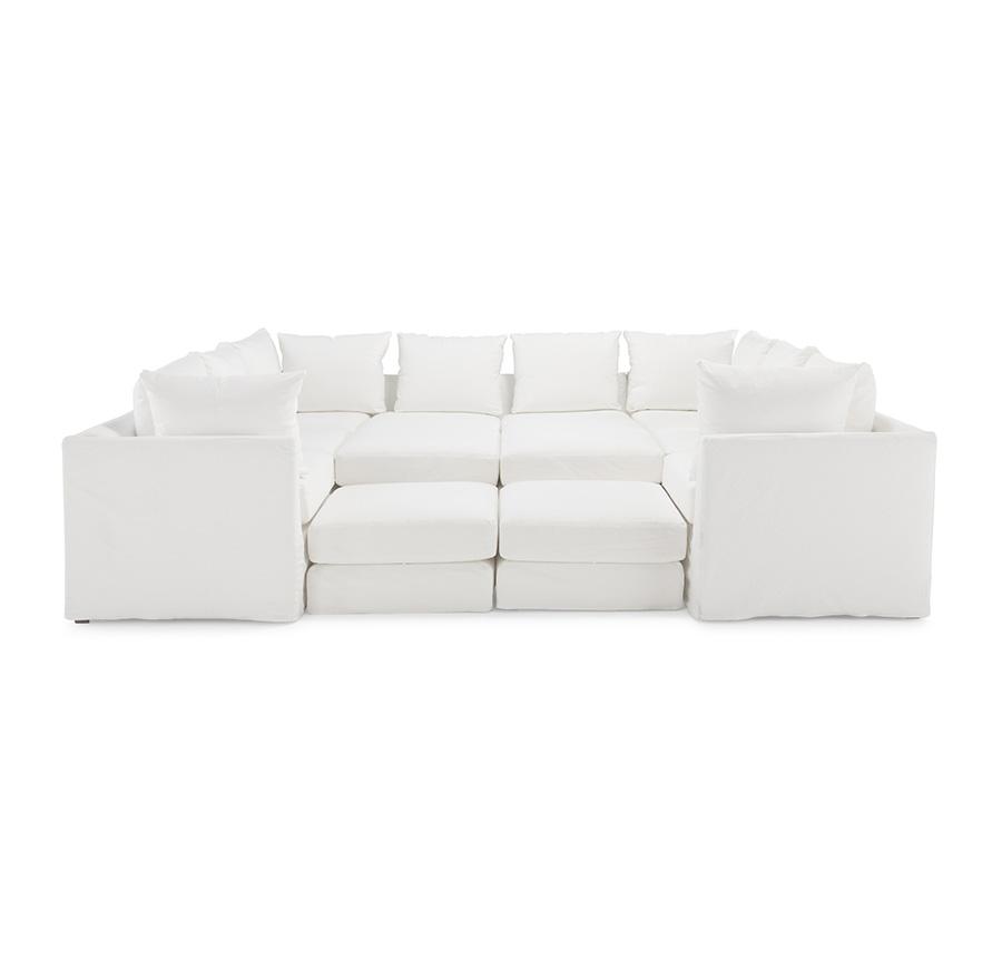 Dr. Pitt Slip Covered Sectional   Haywardu0027s   The Best Furniture St. Johnu0027s  Newfoundland