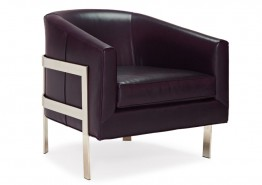 AVERY LEATHER ACCENT CHAIR