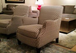 AUNT JANE FABRIC ACCENT CHAIR