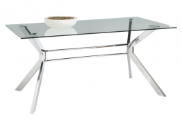 TISTA GLASS DINING TABLE