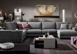 DOMINO ITALIAN FABRIC SECTIONAL CLEARANCE!