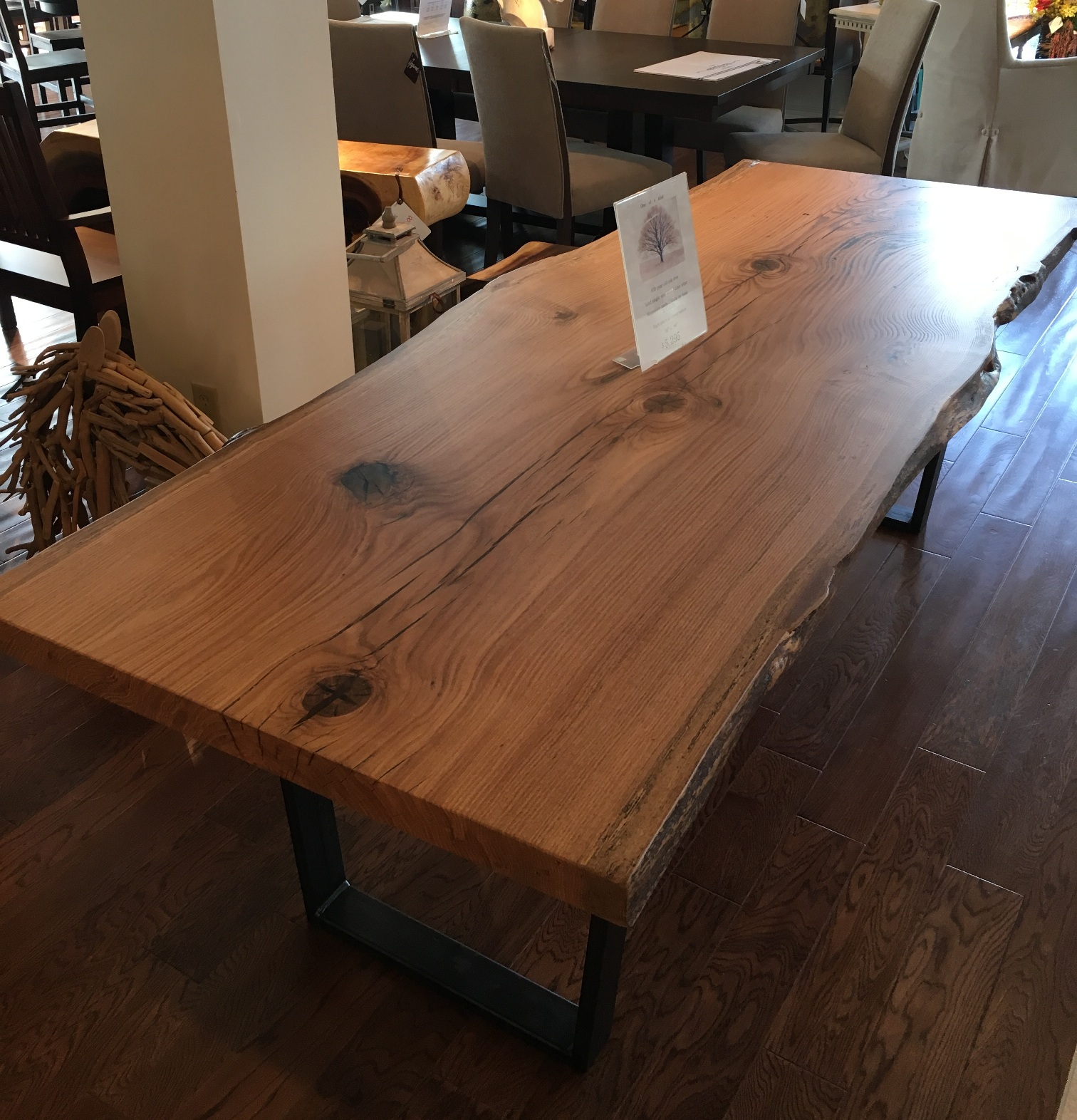 Slab Oak Table Hayward S The Best Furniture St John S