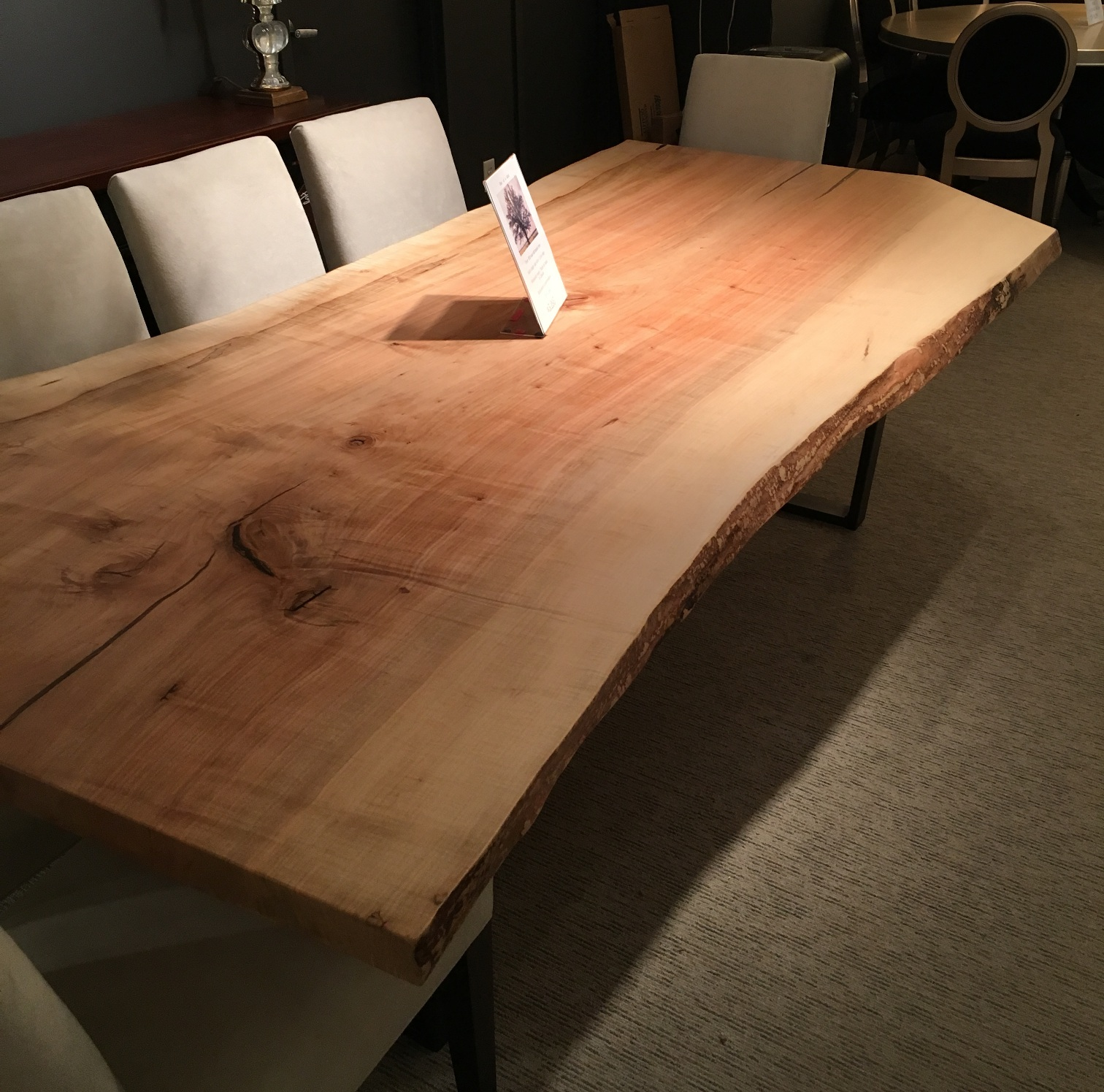 Solid Slab Maple Table Hayward S The Best Furniture St