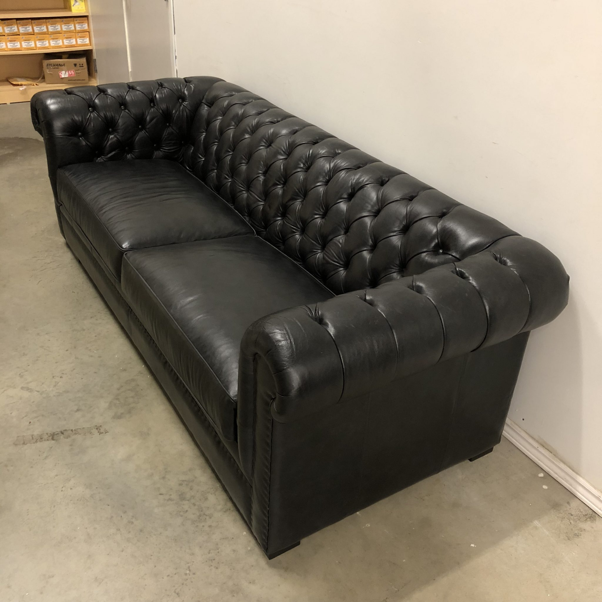 Kennedy Tufted Leather Sofa Hayward S The Best