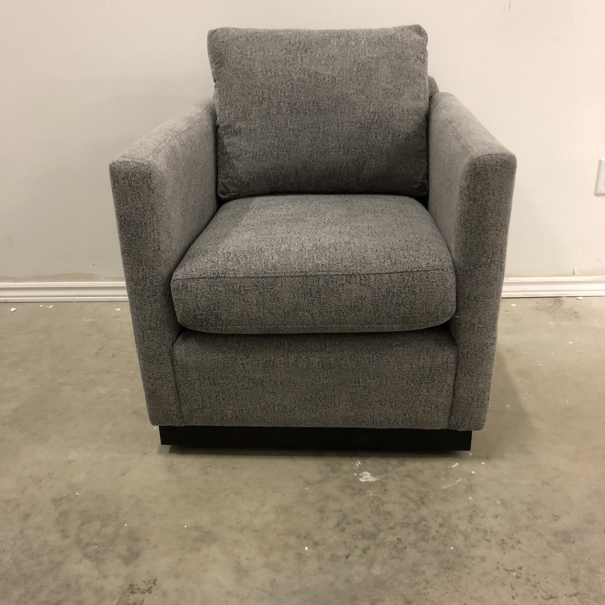 Lotus Custom Fabric Swivel Accent Chair