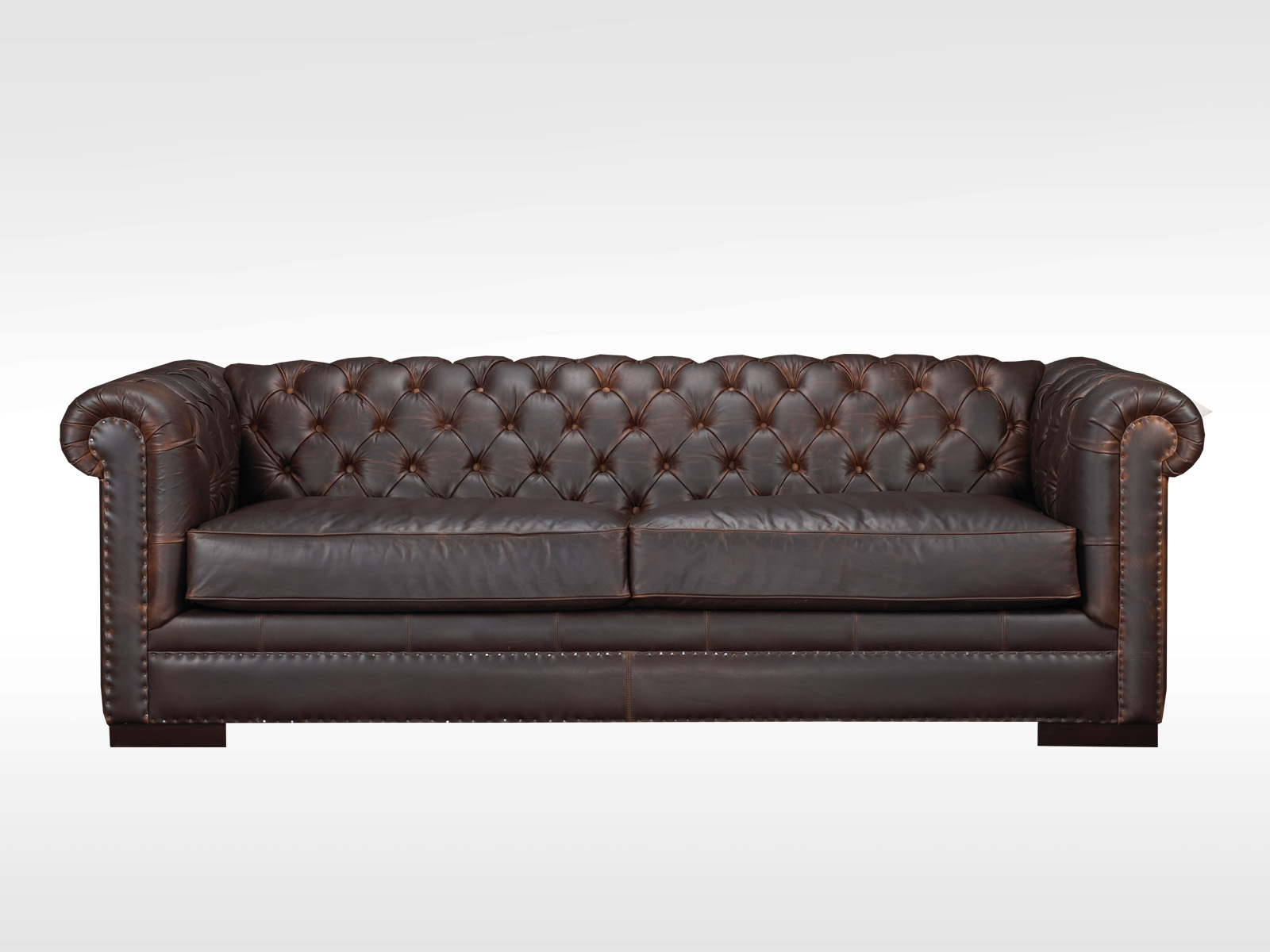 Kennedy Tufted Leather Sofa Hayward S The Best Furniture St John S Newfoundland