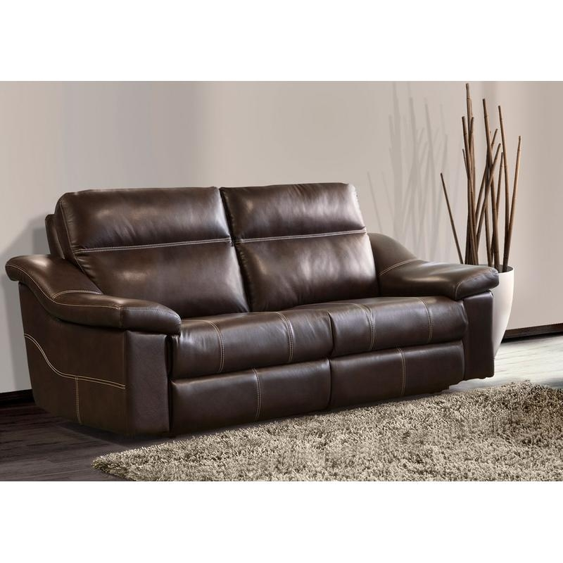 ELRAN 41609 POWER RECLINING LEATHER SOFA