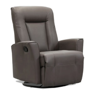 ELRAN LO812 LEATHER SWIVEL ROCKER RECLINER