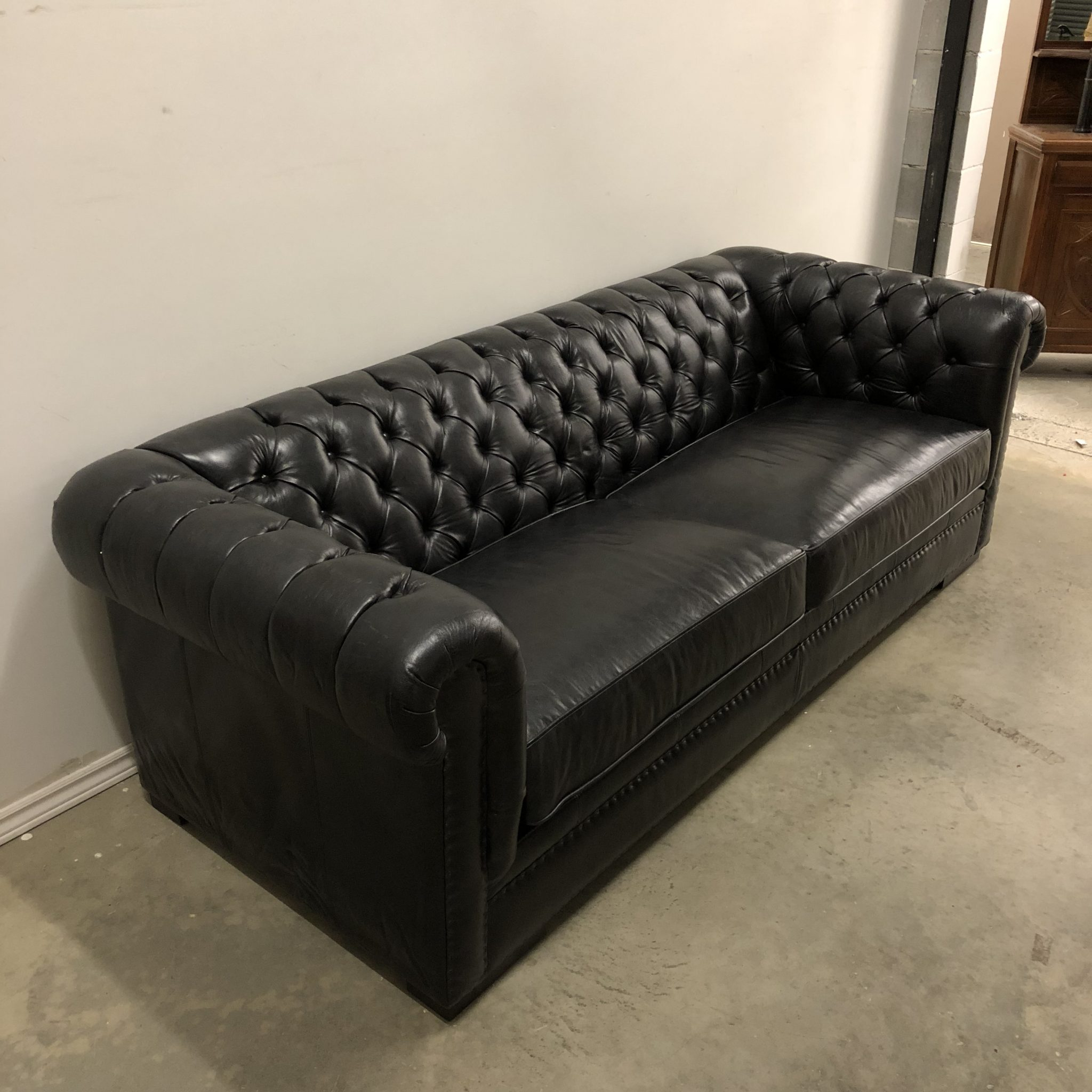 kennedy tufted leather sofa  hayward's  the best