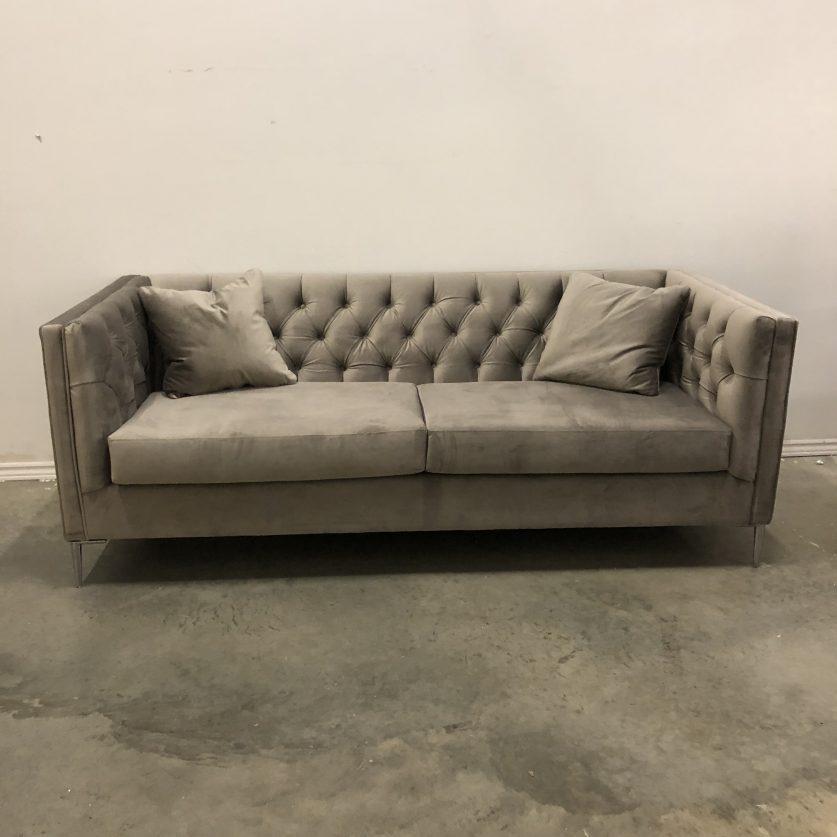 Leo Tufted Fabric Sofa