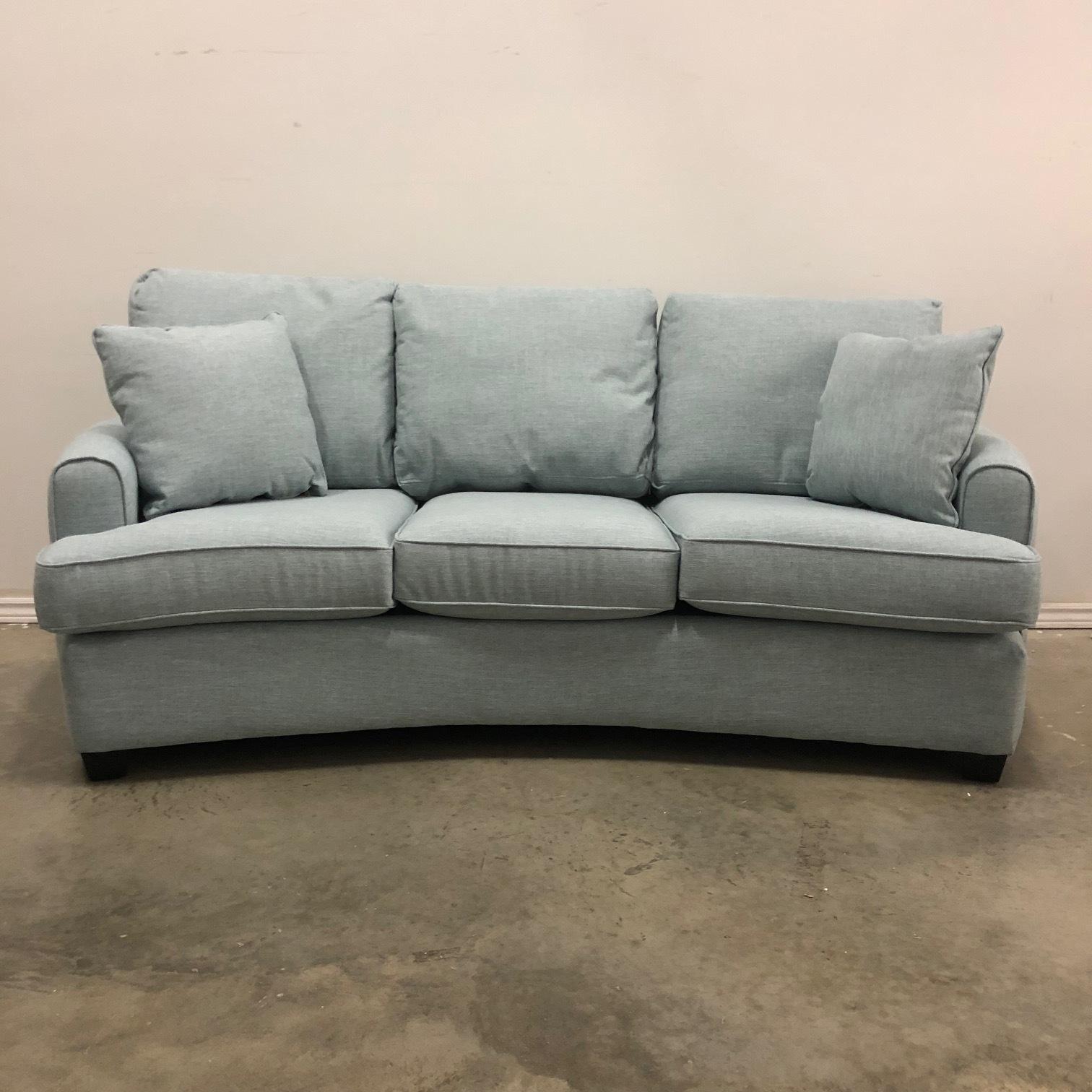 Mercer Curved Fabric Sofa Hayward S The Best Furniture
