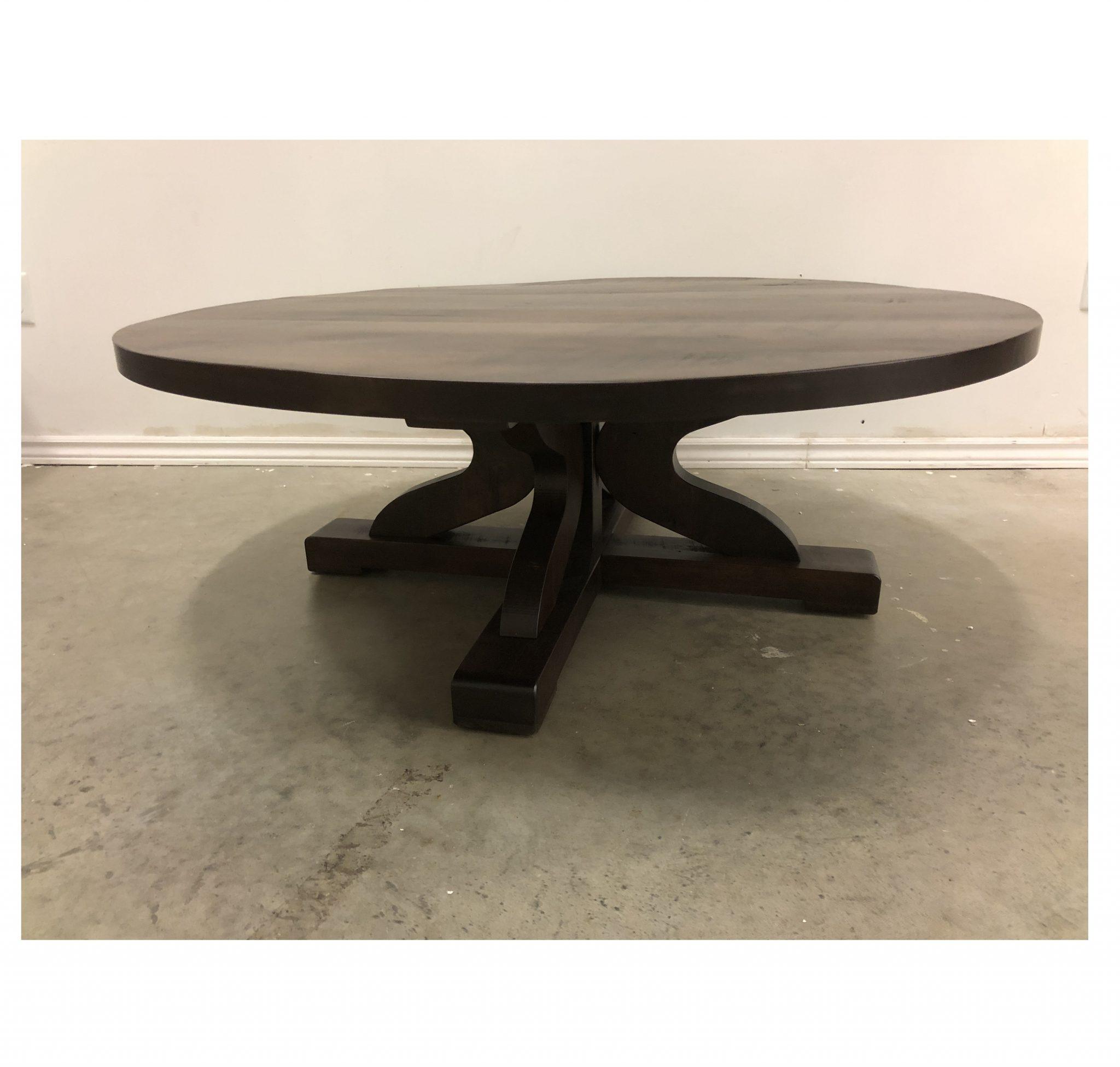 - RUSTIC CARLISLE ROUND COFFEE TABLE